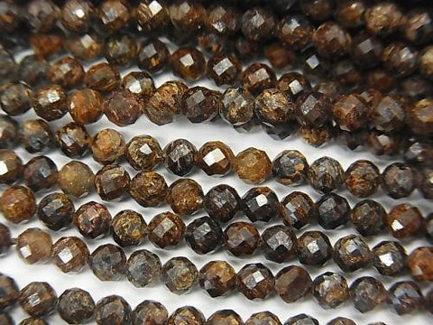 High Quality!  1strand $4.79! Bronzite  Faceted Round 3mm  1strand (aprx.15inch/38cm)