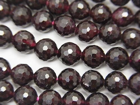 High Quality!  1strand $13.99! Garnet AA++ 128Faceted Round 6mm 1strand (aprx.15inch/37cm)