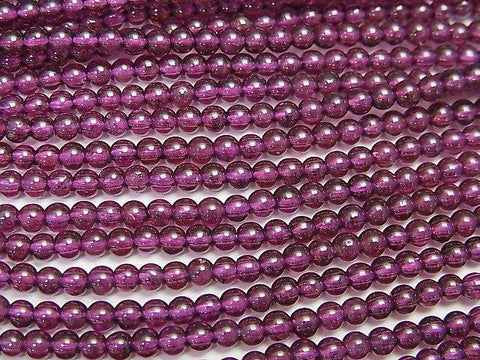 1strand $3.79! India Garnet AAA Round 3mm 1strand (aprx.15inch / 37cm)