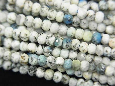 High quality! 1strand $6.79! Himalaya K2 Azurite Faceted Button Roundel 3x3x2mm 1strand (aprx.15inch / 38cm)