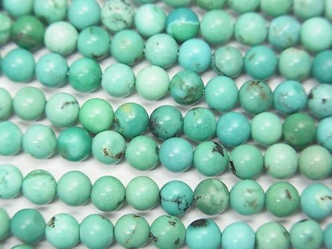1strand $16.99! Turquoise AA+ Round 4mm 1strand (aprx.15inch/37cm)