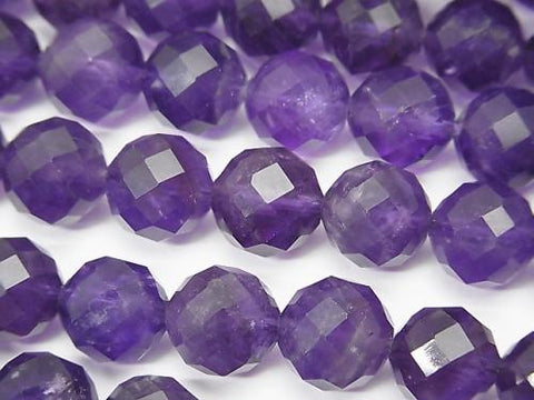 High Quality!  Amethyst AA+ 64Faceted Round 10mm half or 1strand (aprx.15inch/37cm)