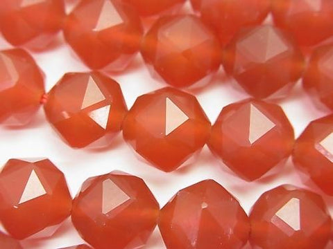 High Quality! Red Agate AAA Star Faceted Round 12mm half or 1strand (aprx.15inch / 37cm)