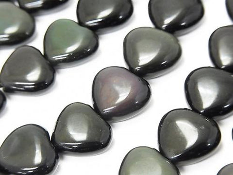 1strand $9.79! Rainbow Obsidian AAA Vertical Hole Heart 14x14x6mm 1strand (aprx.14inch / 35cm)