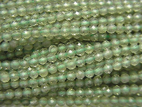 High Quality! 1strand $9.79! High Quality Green Apatite AAA Faceted Round 2.5-3mm 1strand (aprx.13inch / 31cm)