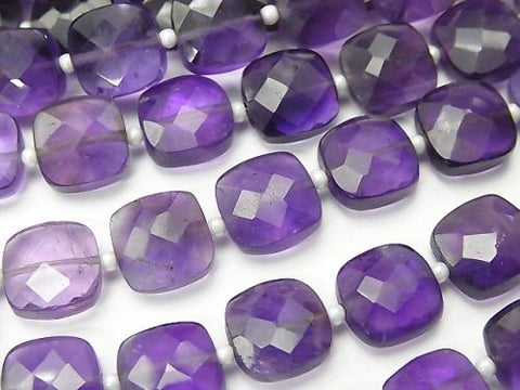 1strand $15.99! Amethyst AA++ Faceted Square  1strand (aprx.6inch/16cm)