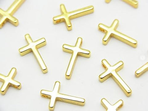 Metal Parts Charm 13x8mm Cross Gold Color 3pcs $1.79!
