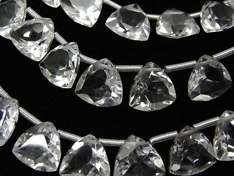 High Quality Crystal AAA Triangle Faceted 10x10x5mm half or 1strand (18pcs)