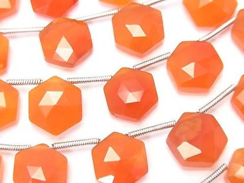 1strand $19.99! High Quality Cornelian AAA Hexagon Rose Cut 11x10mm 1strand (8pcs)