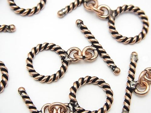 Copper  Toggle  13mm Twist  Oxidized Finish  4pairs $2.99!