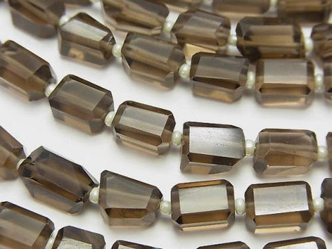 1strand $16.99! High Quality Smoky Crystal Quartz AAA Faceted Nugget  1strand (aprx.12inch/30cm)