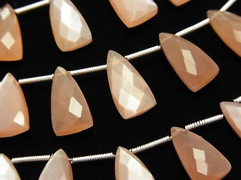 1strand $24.99! High Quality Orange Moon Stone AAA Deformation Faceted Pear Shape 15x8mm 1strand (8pcs)