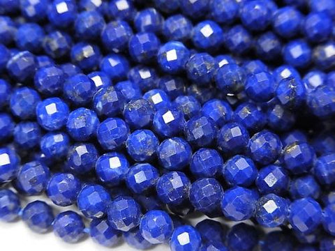 High Quality!  1strand $11.79! Lapislazuli AAA- Faceted Round 4mm  1strand (aprx.15inch/38cm)