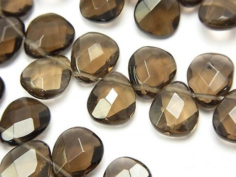 1strand $14.99! Smoky Crystal Quartz AAA Faceted Pear Shape 12x10mm 1strand (aprx.7inch/18cm)