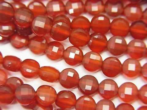 High Quality! 1strand $5.79! Red Agate AAA Faceted Coin 4x4x2mm 1strand (aprx.15inch / 37cm)