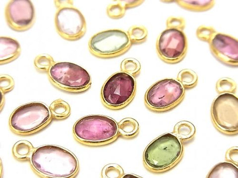High Quality Multicolor Tourmaline AA ++ Bezel Setting Faceted Oval 6.5x5mm [One Side] 18KGP 5pcs $13.99! - kenkengems.com
