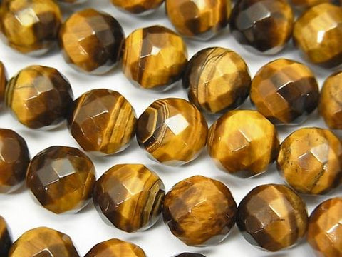 1strand $9.79! Yellow Tiger Eye AA ++ 64Faceted Round 10mm 1strand (aprx.15inch / 36cm)