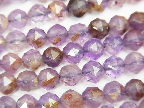 High Quality! Garden Amethyst AAA- Star Faceted Round 6mm half or 1strand (aprx.15inch / 37cm)