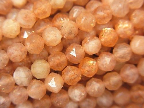 High Quality! 1strand $8.79! Sun Stone AA + Star Faceted Round 4mm 1strand (aprx.15inch / 37cm)