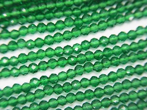 High Quality! 1strand $1.79! Glass Beads Faceted Round 2mm Green 1strand (aprx.15inch / 36cm)