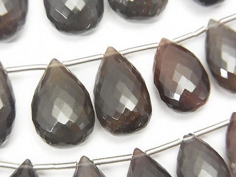 MicroCut!  High Quality Scapolite  Cat's Eye (Glass) AAA Pear shape  Faceted Briolette  3pcs $34.99!