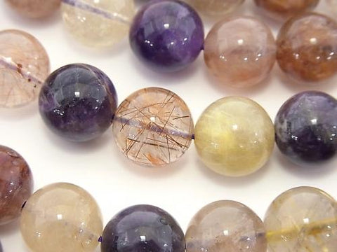 Multi Color Quartz Round 12mm half or 1strand (aprx.15inch / 36cm)