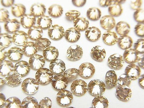 Brown Diamond Round Faceted 3x3mm 1pc $39.99!