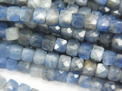 High Quality!  Kyanite AA Cube Shape 4x4x4mm half or 1strand (aprx.15inch/38cm)