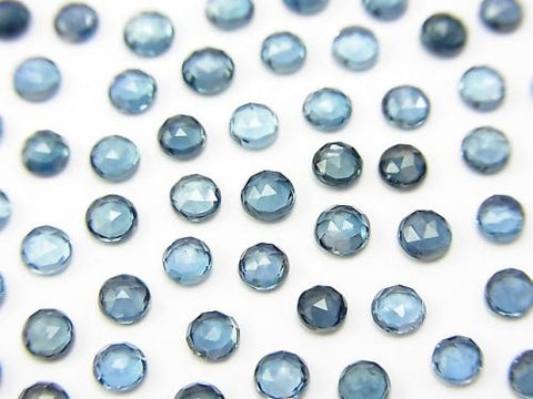 High Quality London Blue Topaz AAA Rose Cut Round 3x3mm 10pcs $6.79!