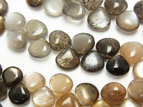 1strand $29.99High Quality Silver Shine Gray-Brown Moon Stone AAA- Chestnut (Smooth) 1strand (aprx.7inch / 18cm)