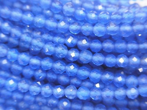 Sale! High Quality! 1strand $5.79! Blue Agate AAA Faceted Round 3mm 1strand (aprx.15inch / 38cm)