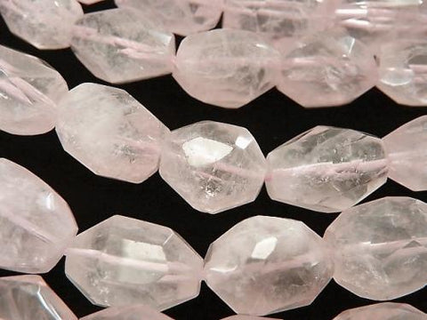 1strand $13.99! Madagascar Rose Quartz AA + Faceted Nugget 1strand (aprx.15inch / 36cm)