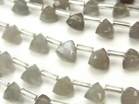 1strand $13.99! High Quality Gray Moon Stone AAA- Solid Triangle Cut 6x6x6mm 1strand (18pcs)