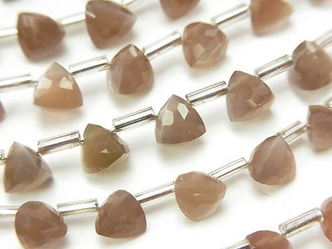 1strand $13.99! High Quality Brown Moon Stone AAA- Solid Triangle Cut 6x6x6mm 1strand (18pcs)
