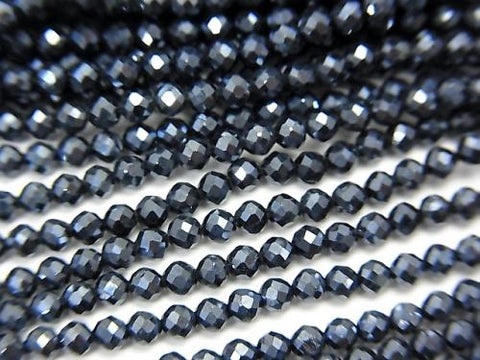 High Quality! 2pcs $5.79! Black Spinel AAA Round Cut Coating 1strand (aprx.15inch / 37cm)