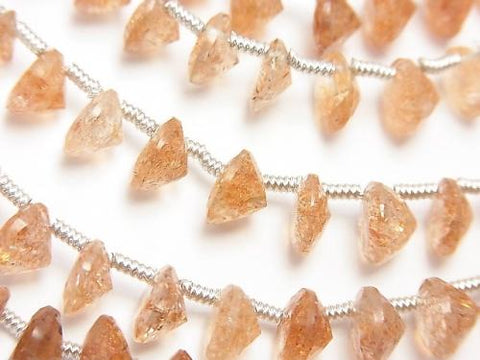 High Quality Sun Stone AAA Round Faceted 7x7x4mm half or 1strand (38pcs )