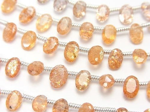 High Quality Sun Stone AAA Oval Faceted 6x4x3mm half or 1strand (18pcs )