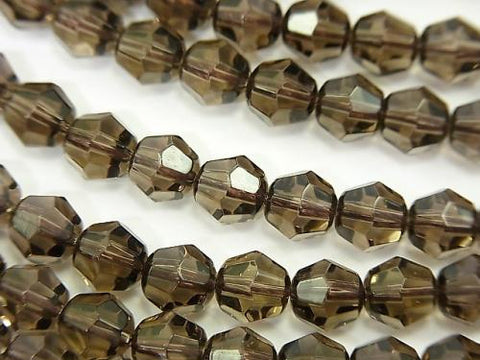 1strand $9.79! Smoky Crystal Quartz AAA 16Faceted 6mm 1strand (aprx.15inch/36cm)
