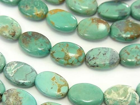 Turquoise AA Oval 14x10x4mm half or 1strand (aprx.15inch/36cm)