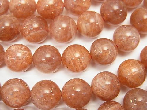 Sun Stone AA++ Round 10mm half or 1strand (aprx.15inch/38cm)