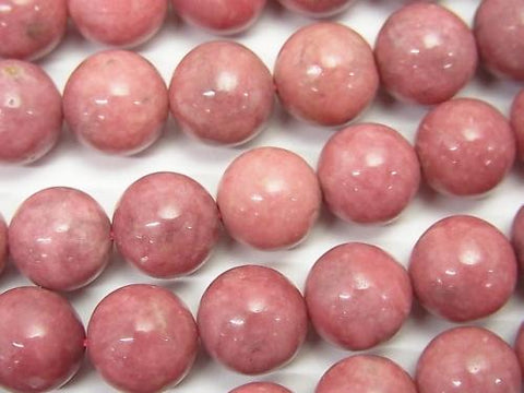 Rhodonite AA++ Round 10mm half or 1strand (aprx.15inch/37cm)