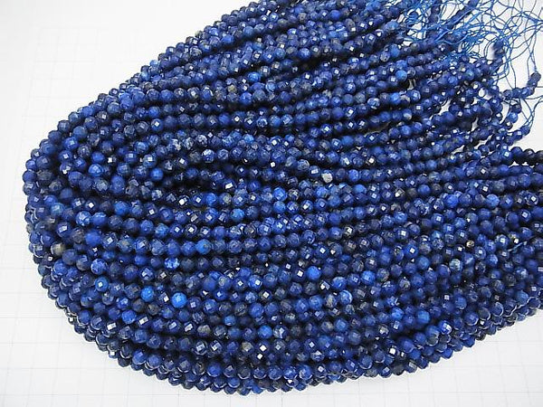 High Quality!  1strand $9.79! Lapislazuli AA++ Faceted Round 5mm  1strand (aprx.15inch/37cm)