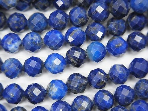 High Quality!  1strand $11.79! Lapislazuli AA+ Faceted Round 6mm  1strand (aprx.15inch/37cm)