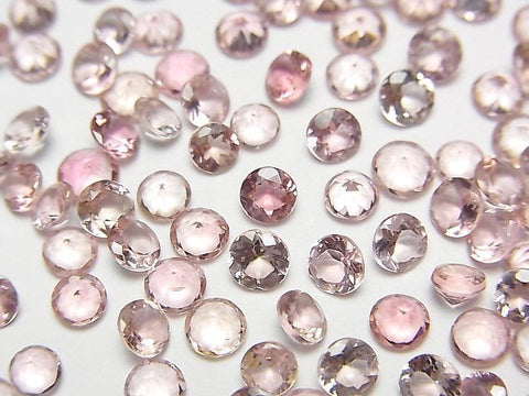 High Quality Pink Tourmaline AAA Undrilled Round Faceted 4x4x2mm 5pcs $15.99! - kenkengems.com