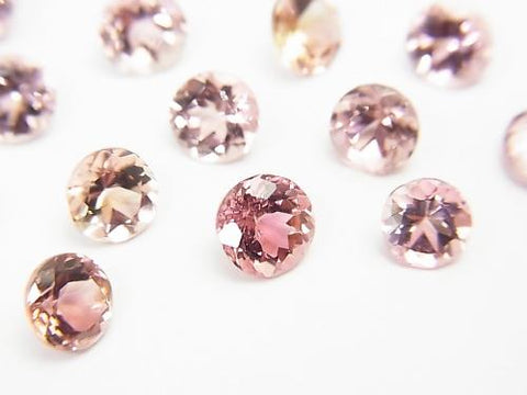 High Quality Pink Tourmaline AAA Undrilled Round Faceted 5x5x2.5mm 4pcs $24.99! - kenkengems.com