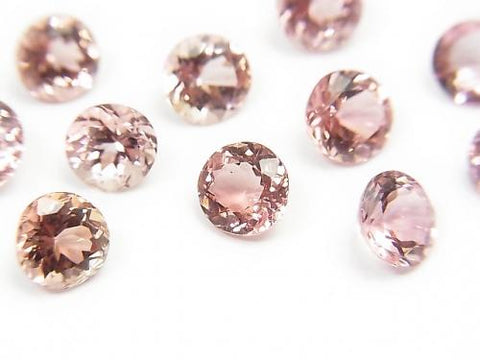 High Quality Pink Tourmaline AAA Undrilled Round Faceted 6x6x3.5mm 2pcs $23.99! - kenkengems.com