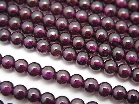1strand $5.79! India Garnet AAA Round 4mm 1strand (aprx.15inch / 38cm)