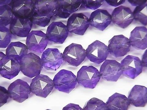 High Quality! Amethyst AA + Star Faceted Round 6mm half or 1strand (aprx.15inch / 36cm)