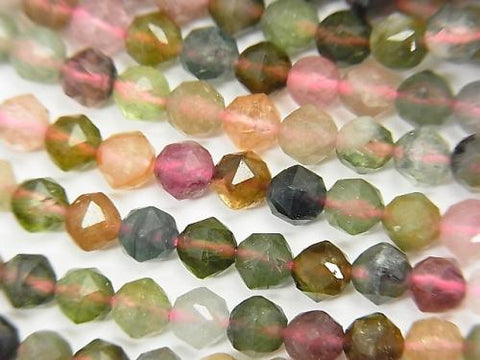 High Quality! 1strand $12.99! Multicolor Tourmaline AA Star Faceted Round 4mm 1strand (aprx.15inch / 37cm) - kenkengems.com