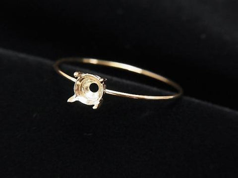 Japan! [K10 Yellow Gold] 1pc for Round Faceted 4mm